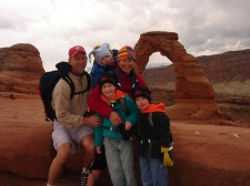 Our family at Delicate Arch, Spring Break 2008.