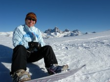 Snowboarding at Grand Targhee, Winter 2009.