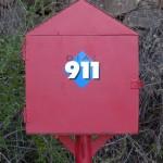 911 call box.