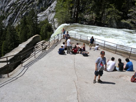 The brink of Vernal Falls.