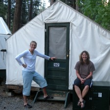 Yosemite's Curry (Tent) Village. Not really roughing it, if I must be honest...