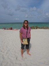 Hanging out on Miami Beach, about 5 hours after leaving the frontier of Wyoming via air travel.